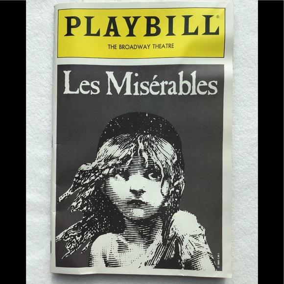 🗽1989 Playbill Les Miserables Broadway Theater